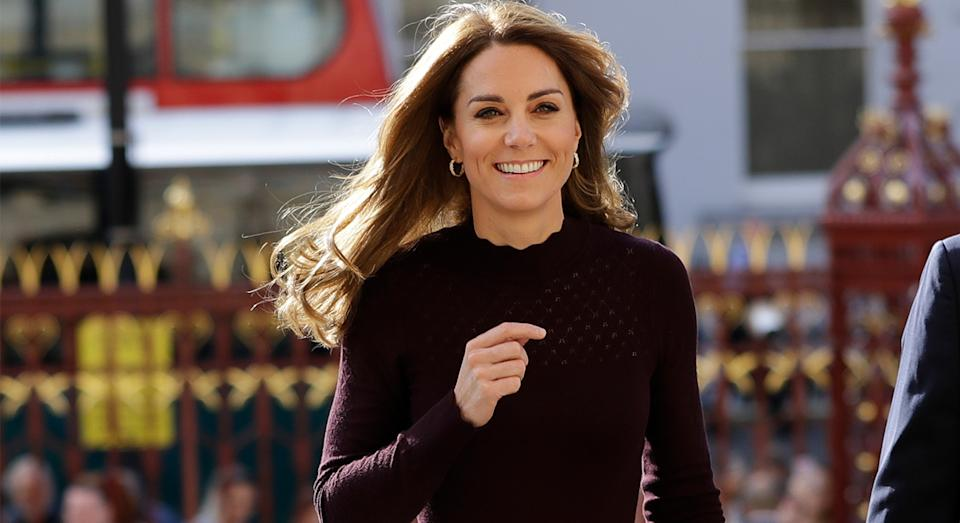 The Duchess of Cambridge's affordable £39 jumper is finally back in stock. [Photo: Getty]