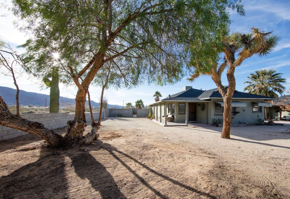 <p>The property is sparse but the real attraction is the view. Of course U2 fans will be happy to know the house is only three miles from the entrance to Joshua Tree National Park.<br />(Airbnb) </p>