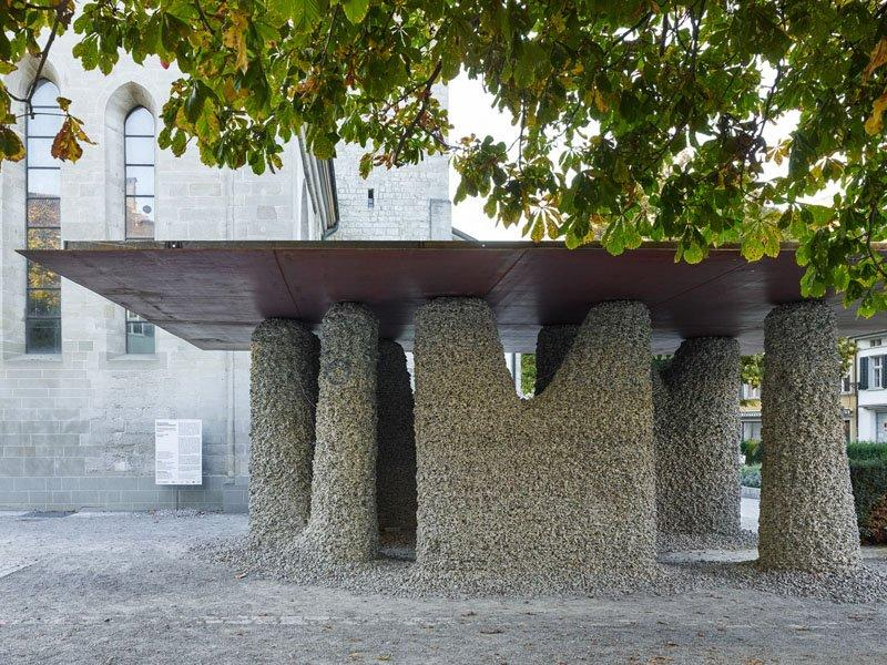 Gramazio and Kohler's robotically-built Rock Print Pavilion