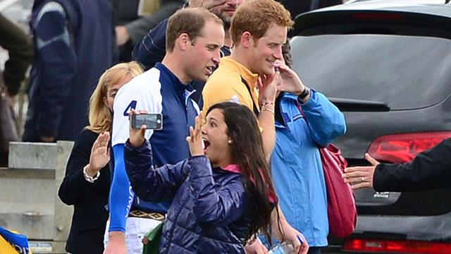 Britain's Prince Harry and Prince William Send Royal Fan Wild