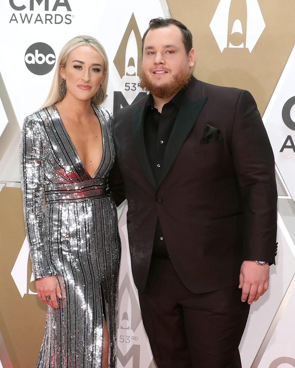 """Country singer Luke Combs married his longtime fiancée, Nicole Hocking, in Florida on August 1. """"Yesterday was the best day of my life. I got to marry my best friend. I love you <a href=""""https://www.instagram.com/nicohocking/"""" rel=""""nofollow noopener"""" target=""""_blank"""" data-ylk=""""slk:@nicohocking"""" class=""""link rapid-noclick-resp"""">@nicohocking</a>, here's to forever,"""" he wrote on Instagram. A rep for Combs <a href=""""https://people.com/country/luke-combs-marries-nicole-hocking/"""" rel=""""nofollow noopener"""" target=""""_blank"""" data-ylk=""""slk:told People"""" class=""""link rapid-noclick-resp"""">told <em>People</em></a> the ceremony took place at their home. """"Despite the threat of a hurricane, the couple had a lovely intimate ceremony and will be celebrating with friends and family in the new year,"""" the rep said."""