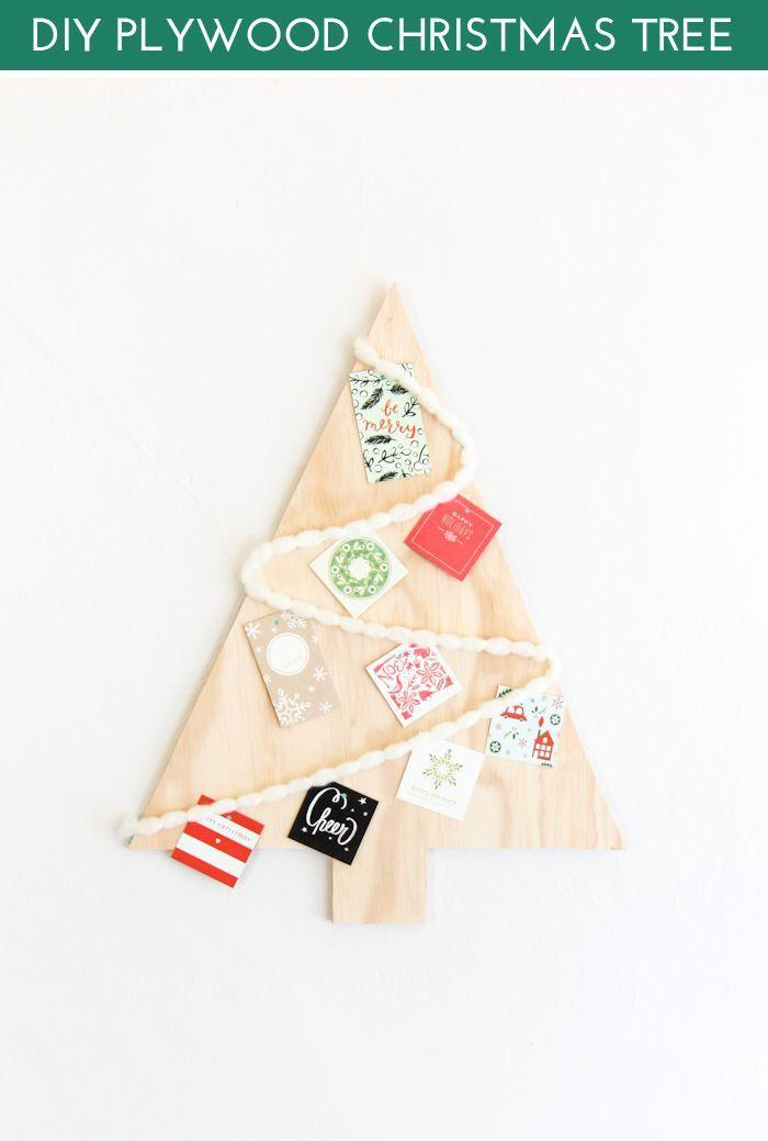 """<p>If you can work a saw, then you need to make this plywood cardholder tree.</p><p>Get the tutorial at <a href=""""https://thecraftedlife.com/diy-plywood-christmas-tree/"""" rel=""""nofollow noopener"""" target=""""_blank"""" data-ylk=""""slk:The Crafted Life"""" class=""""link rapid-noclick-resp"""">The Crafted Life</a>.</p>"""