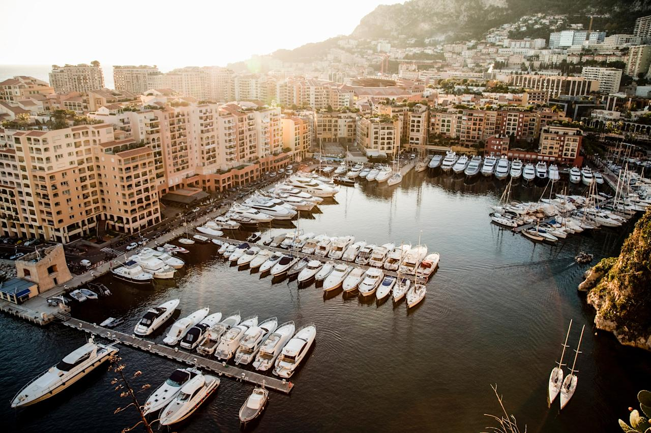 """Surrounded by the Maritime Alps on the shore of the Mediterranean Sea, glamorous <a href=""""https://www.cntraveler.com/galleries/2014-09-18/a-weekend-in-monaco-where-to-eat-stay-and-play?mbid=synd_yahoo_rss"""">Monte Carlo</a> has been made famous through pop culture for its depiction in an array of films, from <em>To Catch a Thief</em> to <em>GoldenEye</em>, and even <em>Cars 2</em>. It would be criminal to visit without stopping in to the Casino de Monte-Carlo (play a game of baccarat to do your best James Bond impression). Go just outside the city limits to the Jardin Exotique for stellar views and the world's largest collection of succulents and cacti, or to Le Rocher, a cliffside old town with winding, narrow alleyways dating back to the Middle Ages."""