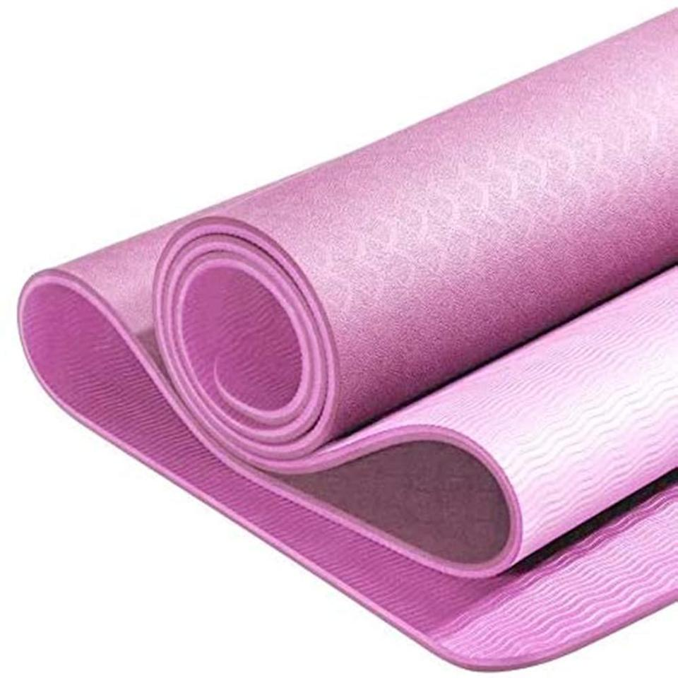 """<br><br><strong>YUNMAI</strong> Yoga Mat Premium with Carrying Bag 1/4in, $, available at <a href=""""https://amzn.to/3lGdMGi"""" rel=""""nofollow noopener"""" target=""""_blank"""" data-ylk=""""slk:Amazon"""" class=""""link rapid-noclick-resp"""">Amazon</a>"""