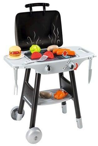 "<p>Little ones whip up their picnic faves using a <a href=""https://www.popsugar.com/buy/Smoby-BBQ-Plancha-Play-Grill-Accessories-115944?p_name=Smoby%20BBQ%20Plancha%20Play%20Grill%20with%20Accessories&retailer=amazon.com&pid=115944&price=40&evar1=moms%3Aus&evar9=25800161&evar98=https%3A%2F%2Fwww.popsugar.com%2Fphoto-gallery%2F25800161%2Fimage%2F44172584%2FSmoby-BBQ-Plancha-Play-Grill&list1=gifts%2Ctarget%2Choliday%2Cgift%20guide%2Cparenting%2Ckid%20shopping%2Choliday%20for%20kids%2Cgifts%20for%20toddlers%2Cbest%20of%202019&prop13=api&pdata=1"" class=""link rapid-noclick-resp"" rel=""nofollow noopener"" target=""_blank"" data-ylk=""slk:Smoby BBQ Plancha Play Grill with Accessories"">Smoby BBQ Plancha Play Grill with Accessories</a> ($40) that lets them grill just like Dad minus the flames.</p>"