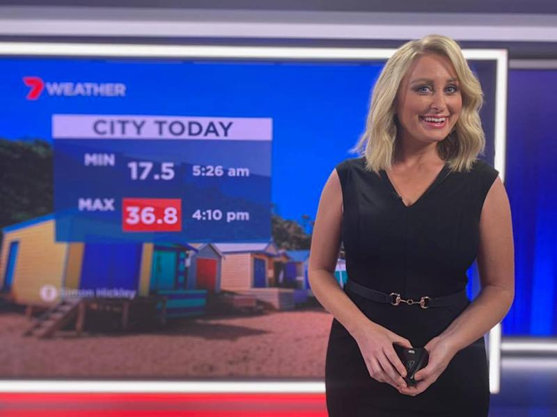 Seven Weather presenter Jane Bunn has been axed from her radio gig at 3AW. Photo: Seven