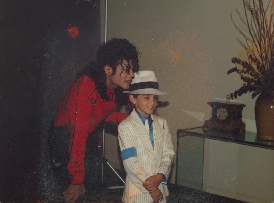 Michael Jackson and Wade Robson in 1990 (Photo: Courtesy HBO)