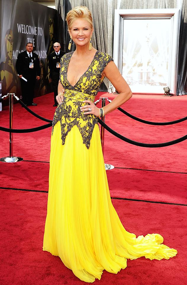 Nancy O'Dell arrives at the 84rd Academy Awards at the Kodak Theatre in Hollywood, CA.