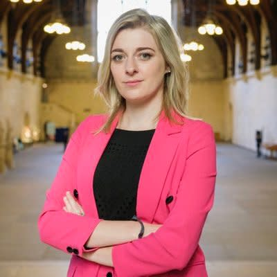 Dehenna Davison, Conservative MP for Bishop Auckland, posted a Tweet which labelled her as 'not normal' and called for her deselection from Parliament (Dehenna Davison/Twitter)