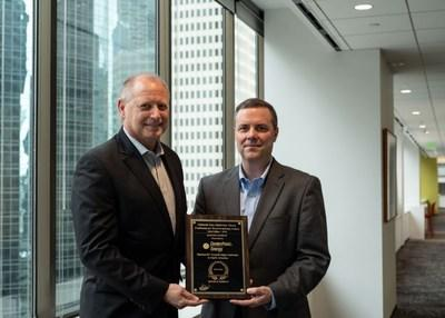 From left: Joe Vortherms, Competitive Energy Businesses lead for CenterPoint Energy and Kevin Huntsman, vice president of Sales for Mastio & Company