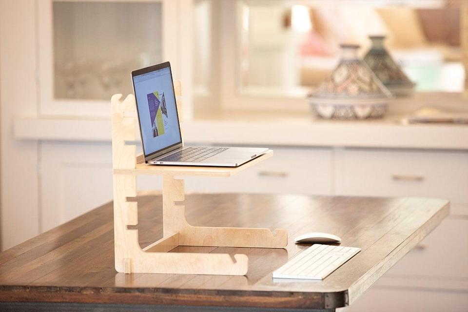 """<p>""""After months of working from home, I have to come realize how much I like to change my positioning throughout the day. This lightweight and adjustable <span>Allstand Laptop Standing Desk Riser Shelf</span> ($60) makes that transition so much easier. I don't have to stack a bunch of books to stand in my kitchen or work outside."""" - Lauren Hendrickson, Head of Shop and Affiliate Growth </p>"""