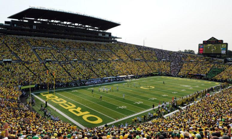 A general view of Oregon's stadium.