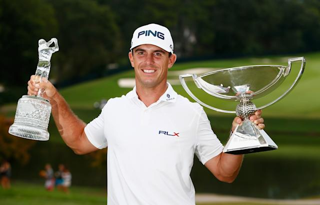 "<div class=""caption""> Horschel poses after winning the Tour Championship and the FedEx Cup title in 2014. </div> <cite class=""credit"">Sam Greenwood/Getty Images</cite>"