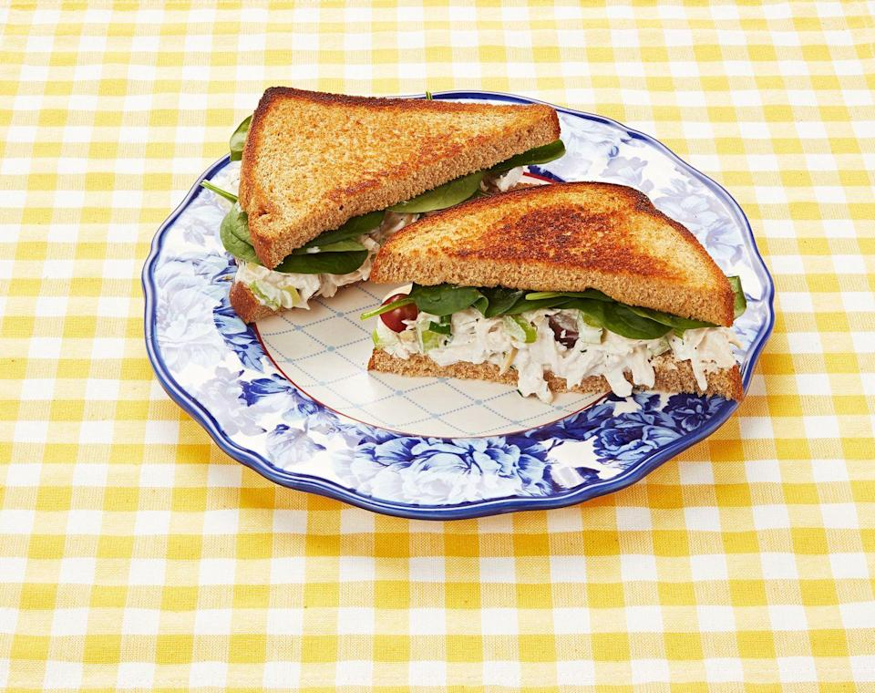 """<p>The recipe starts the way Ree likes it, but you can customize the sandwich so it's just-right for your taste.<br></p><p><a class=""""link rapid-noclick-resp"""" href=""""https://www.thepioneerwoman.com/food-cooking/recipes/a9697/chicken-salad-the-way-i-like-it/"""" rel=""""nofollow noopener"""" target=""""_blank"""" data-ylk=""""slk:Get the Recipe!"""">Get the Recipe!</a></p>"""