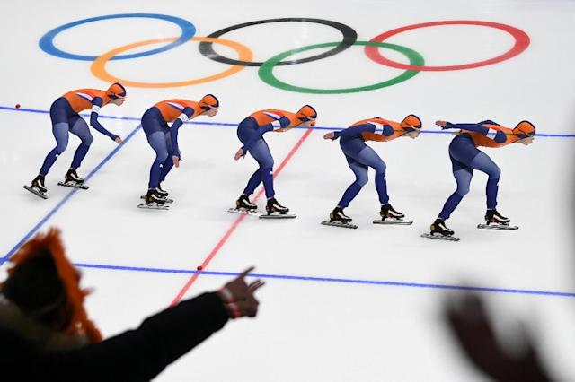 "Veteran US journalist Katie Couric apologised on Tuesday after she was relentlessly mocked for claiming Dutch success at the Olympics was because skating is an ""important mode of transport"" in the Netherlands (AFP Photo/Roberto SCHMIDT)"