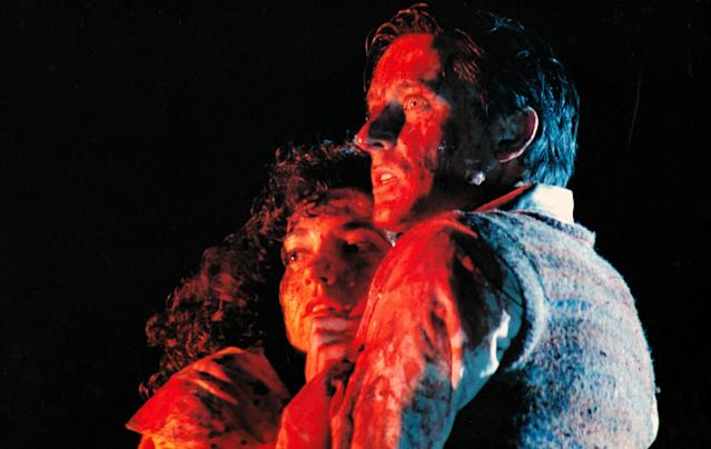 Diana Peñalver and Balme in <em>Braindead,</em> aka  <em>Dead Alive</em> (Photo: Mary Evans/New Zealand Film Commission/Wingnut Films/Ronald Grant/Everett Collection)