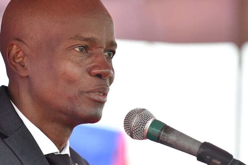 Haitian President Jovenel Moise, who made big pledges on the campaign trail, fell silent for days as mass protests and riots paralyzed the country, until he gave an address on February 14, 2019 (AFP Photo/HECTOR RETAMAL)