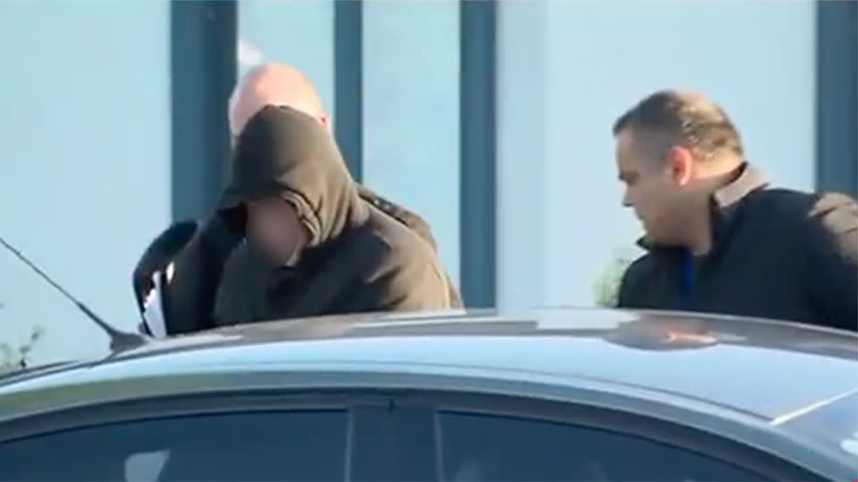 The man was arrested outside a Beaconsfield property. Photo: Sunrise