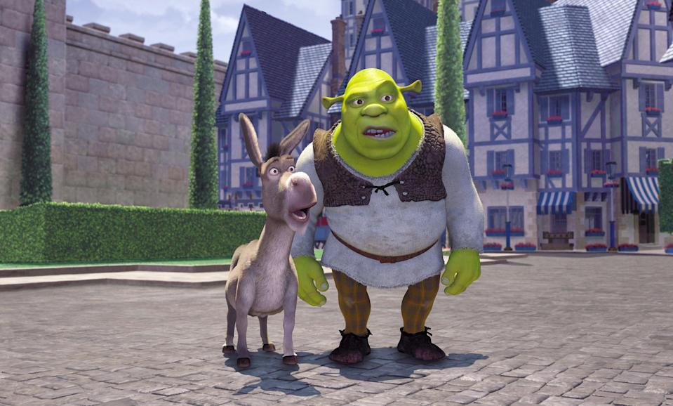 """<div><p>""""<i>Shrek 2</i> is unironically one of my favorite movies of all time. Every single joke lands perfectly AND it has an engaging story; it's the perfect comedy.""""</p><p>—<a href=""""https://www.reddit.com/r/AskReddit/comments/o7bmha/what_movie_franchise_shouldve_stopped_at_2/h2y85wy/?context=3&utm_medium=web2x&utm_source=reddit"""" rel=""""nofollow noopener"""" target=""""_blank"""" data-ylk=""""slk:u/Monkeycarcass"""" class=""""link rapid-noclick-resp"""">u/Monkeycarcass</a></p></div><span> Dreamworks / © DreamWorks / Courtesy Everett Collection</span>"""