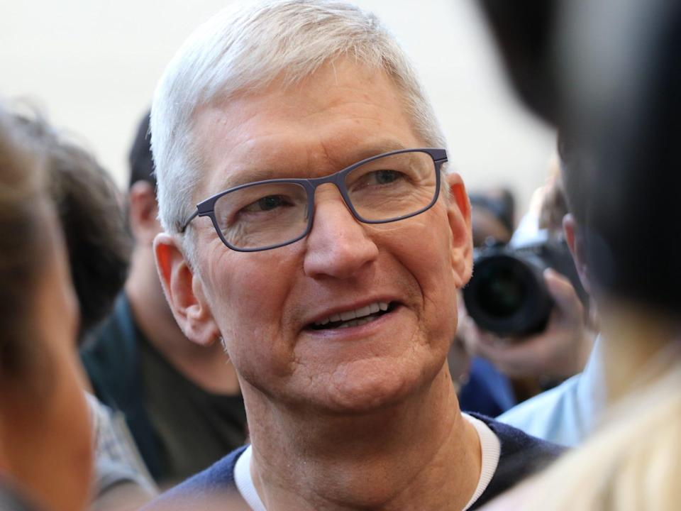 """Tim Cook in Cupertino in September 2019. <p class=""""copyright"""">Christoph Dernbach/picture alliance via Getty Images</p>"""