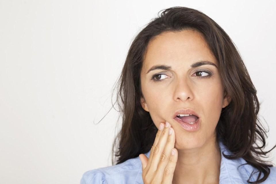 """Burning the inside of your mouth on food or coffee hurts a lot, but sometimes you can experience a chronic or recurring burning or tingling feeling without having scarfed down something scalding. This symptom is occasionally accompanied by a metallic taste or dry mouth sensation. All told, it may be burning mouth syndrome, a condition that's typically caused by nerve damage, but it could also be a symptom of other conditions like diabetes, anemia, or dry mouth, according to a 2019 study published in the journal <a href=""""https://onlinelibrary.wiley.com/doi/full/10.1111/odi.13067"""" rel=""""nofollow noopener"""" target=""""_blank"""" data-ylk=""""slk:Oral Diseases"""" class=""""link rapid-noclick-resp""""><i>Oral Diseases</i></a>. If this is something you're dealing with on a regular basis, it's time to talk to your doctor."""