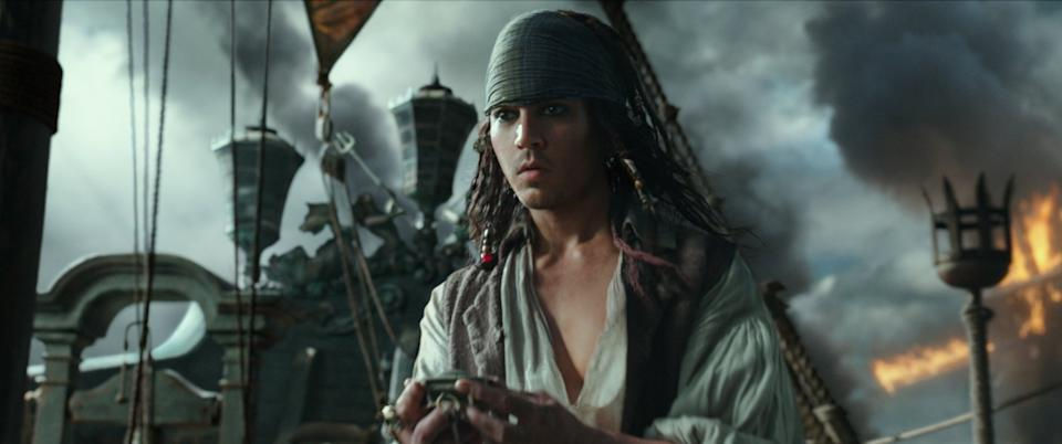 Johnny Depp as a younger Jack Sparrow (credit: Disney)