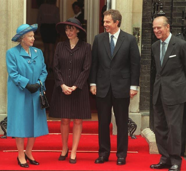 The Queen and Duke of Edinburgh at Downing St