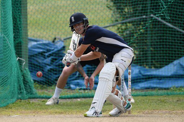 Joe Denly during a training session