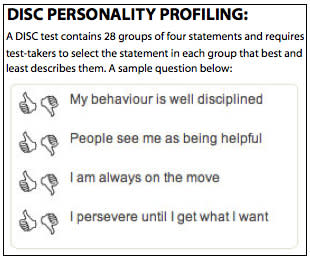 Personality profiling is latest method coaches are using to