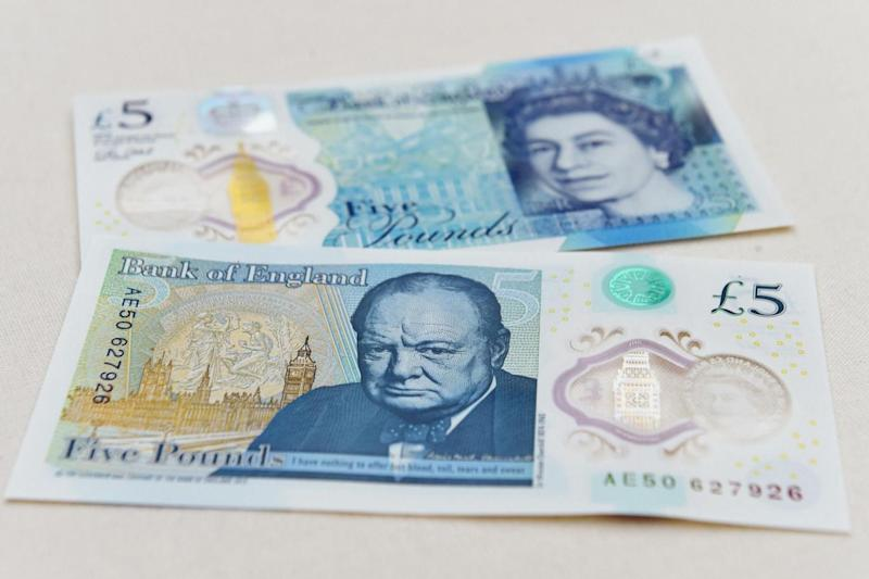 The new £5 note was introduced in September last year (Getty Images)