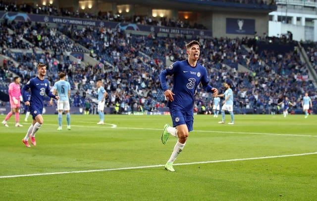 Kai Havertz scored the only goal of the game as Chelsea beat Premier League rivals Manchester City 1-0 in Saturday's Champions League final in Portugal (Nick Potts/PA).