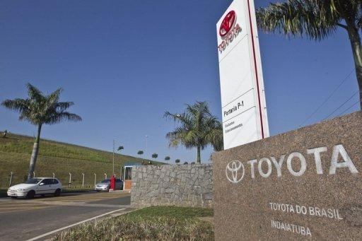 View of the Toyota plant in Indaiatuba, Brazil