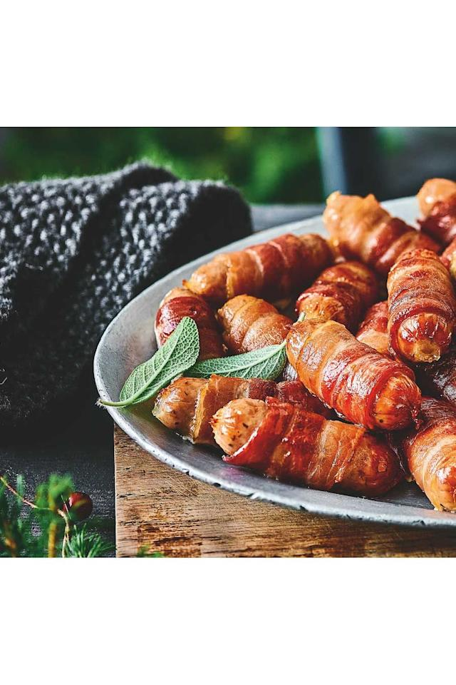 """<p><strong>Overall score: 84/100</strong></p><p><strong></strong>The enticing smoky scent of these pigs in blankets was a hit with our testers, who couldn't wait to try them. The combination of juicy British sausage meat and crispy smoky bacon provided the perfect bite, too. Testers picked up on peppery, woody notes from the bacon and a hint of sweetness from the sausage, providing a well-balanced overall flavour. A classic, meaty offering that will go down well at the dinner table.</p><p><a class=""""body-btn-link"""" href=""""https://go.redirectingat.com?id=127X1599956&url=https%3A%2F%2Fwww.ocado.com%2Fproducts%2Fm-s-british-pigs-in-blankets-530550011&sref=https%3A%2F%2Fwww.goodhousekeeping.com%2Fuk%2Ffood%2Ffood-reviews%2Fg23864072%2Fthe-best-pigs-in-blankets-for-your-christmas-dinner%2F"""" target=""""_blank"""">BUY NOW</a> <strong>Ocado, £3.50 for 282g</strong></p>"""