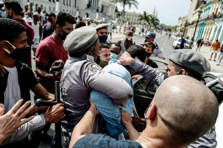 Independent observers and activists say at least 600 people were arrested in Cuba for protesting, many of whom remain behind bars