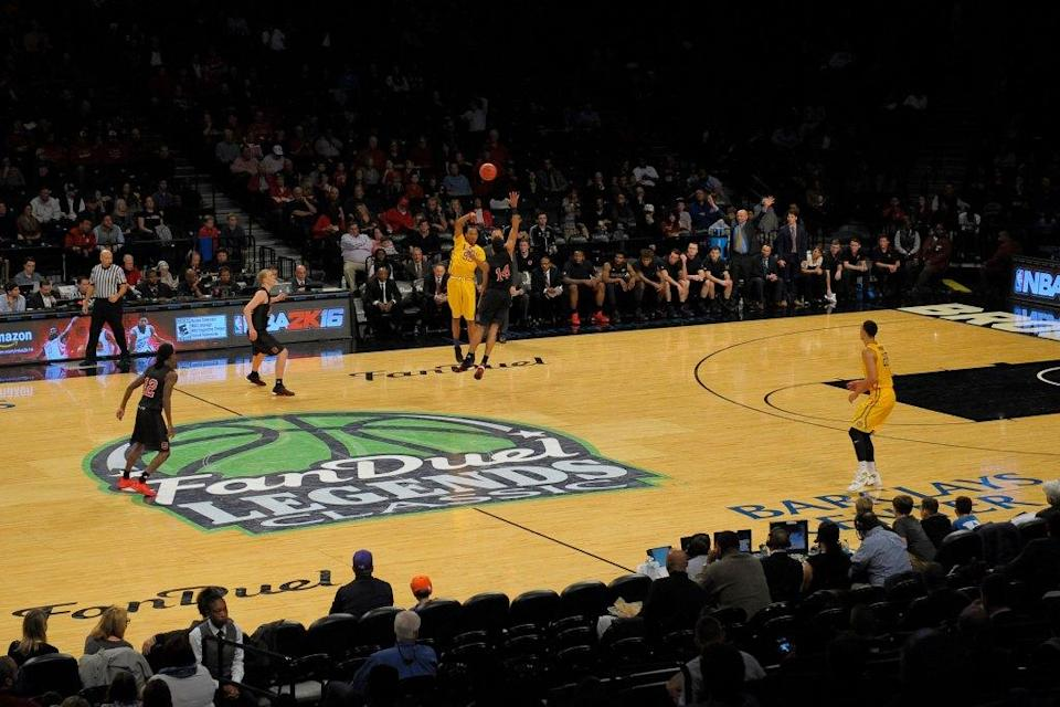 FanDuel was the primary sponsor of the tournament Legends Classic, played between the LSU Tigers and the North Carolina State Wolfpack at the Barclays Center on Nov. 24, 2015, in Brooklyn.