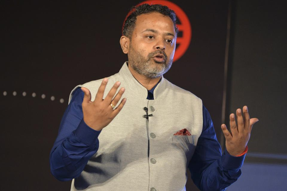 President Uber India and South Asia, Pradeep Parameswaran addresses a press conference in New Delhi on October 22, 2019. (Photo by Sajjad HUSSAIN / AFP) (Photo by SAJJAD HUSSAIN/AFP via Getty Images)
