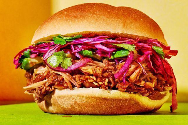"""<p>This ultra-satisfying jackfruit-based pulled """"pork"""" practically oozes with sweet-and-salty BBQ sauce. Top it off with cabbage slaw and avocado for your dream vegan sandwich.<br></p><p><a class=""""link rapid-noclick-resp"""" href=""""https://www.womenshealthmag.com/food/a32853629/vegan-bbq-pulled-pork/"""" rel=""""nofollow noopener"""" target=""""_blank"""" data-ylk=""""slk:GET THE RECIPE"""">GET THE RECIPE</a></p><p><em>*Nutritional information not available</em></p>"""