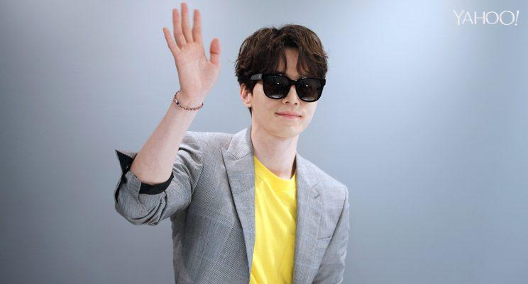 Lee Dong-wook at the opening of the Gentle Monster store in Singapore