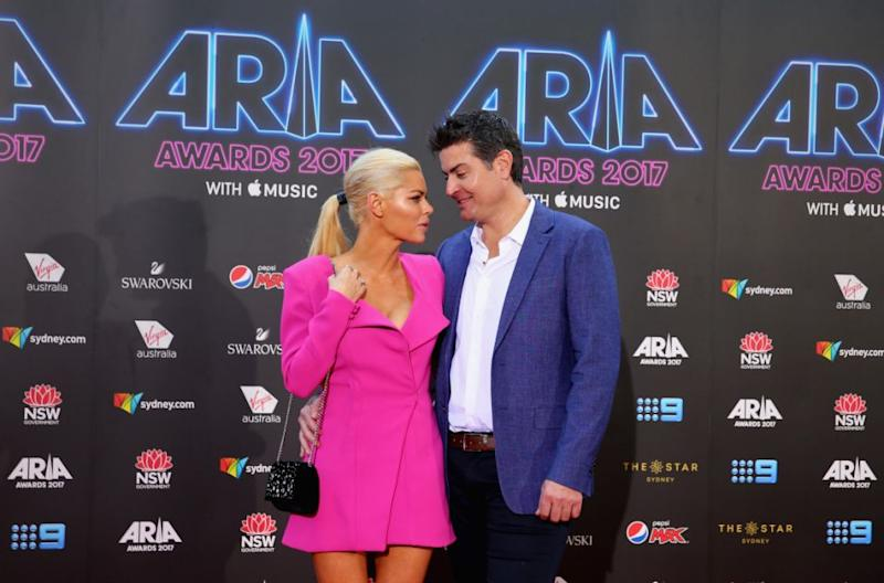 Sophie found love with Stu on the Bachelorette, seen here together during their first appearance at the ARIAs. Source: Getty