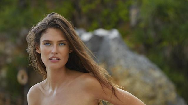 Bianca Balti was photographed by James Macari in Sumba Island. Swimsuit by INDAH.