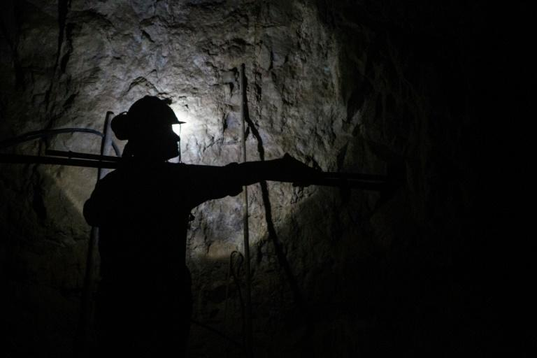 A miner works at the Kiara copper mine, 136 km (80 miles) south of Antofagasta, Chile