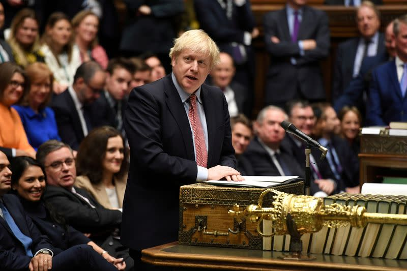 Let's get Brexit done and end division in 2020, Johnson tells Britons