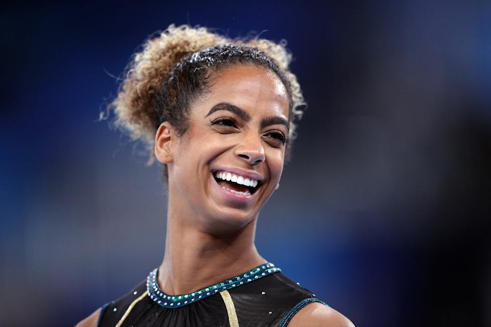 Danusia Francis couldn't compete at her best on an injured knee. But she still competed at the Olympics, which means the world to her. (Photo by Patrick Smith/Getty Images)