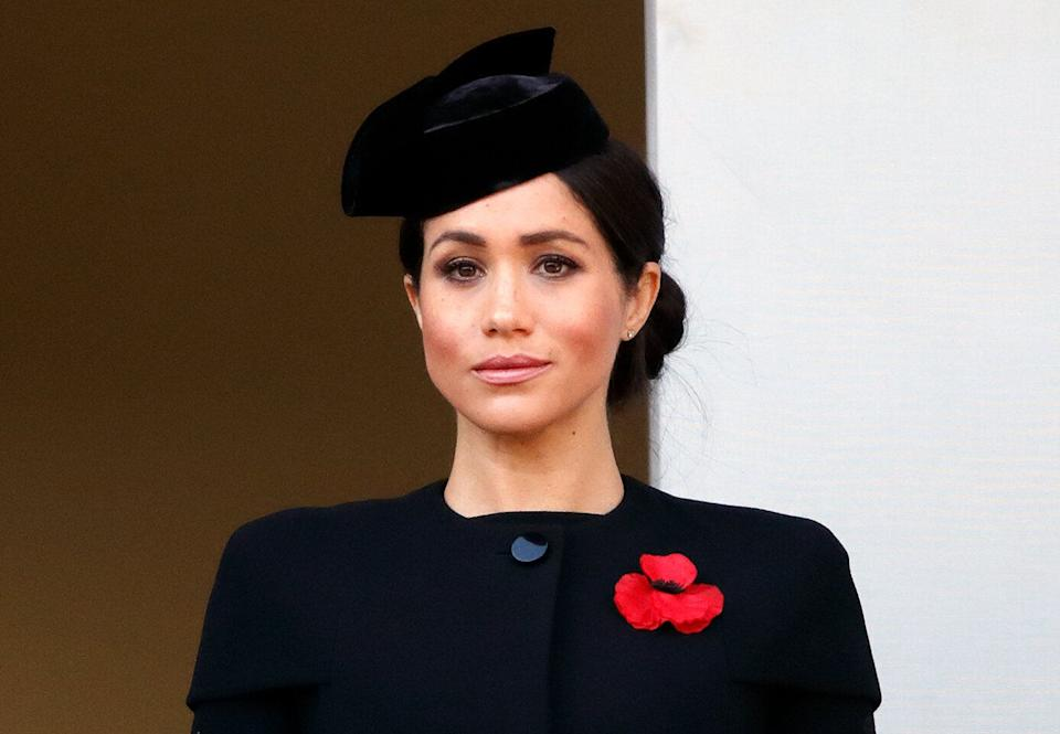 The Duchess of Sussex attends the annual Remembrance Sunday Service at The Cenotaph on Nov. 11, 2018, in London. (Photo: Max Mumby/Indigo via Getty Images)
