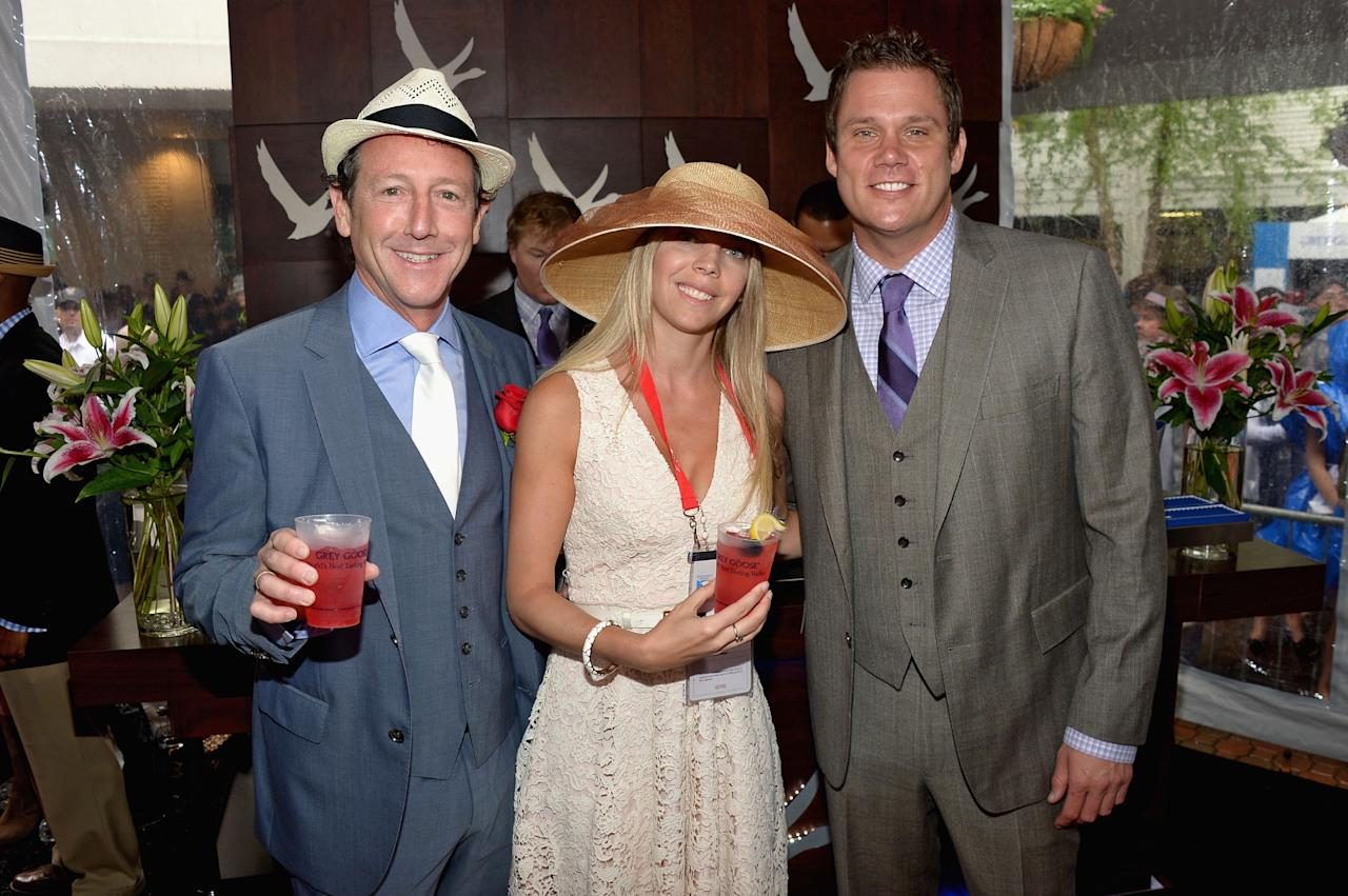 LOUISVILLE, KY - MAY 04: (L-R) Robert Angel, Sharon Lilien-Zwiebel and Bob Guiney at the GREY GOOSE Red Carpet Lounge at the Kentucky Derby at Churchill Downs on May 4, 2013 in Louisville, Kentucky.  (Photo by Theo Wargo/Getty Images for GREY GOOSE)