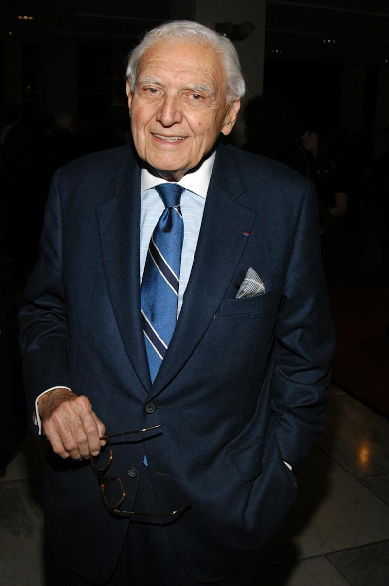 In this Jan. 31, 2008, photo provided by Women's Wear Daily via Marvin Traub Associates, Marvin Traub attends the opening celebration of Madame Gres at the Museum of FIT in New York. Traub, who transformed the department store chain into an international powerhouse, died at his home in New York's Manhattan borough on Wednesday, July 11, 2012. He was 87.  (AP Photo/Women's Wear Daily, Scott Rudd) NO SALES; MANDATORY CREDIT