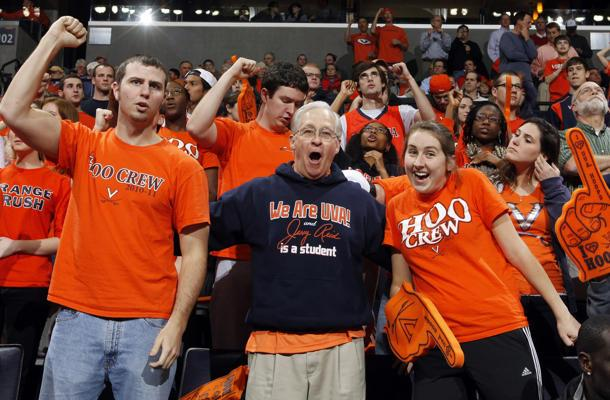 A 67 Year Old Is Now A Fixture In Virginia S Student Section