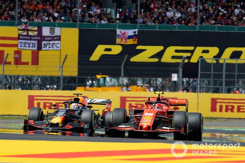"Charles Leclerc leads Max Verstappen at the 2019 British Grand Prix<span class=""copyright"">Gareth Harford / Motorsport Images</span>"