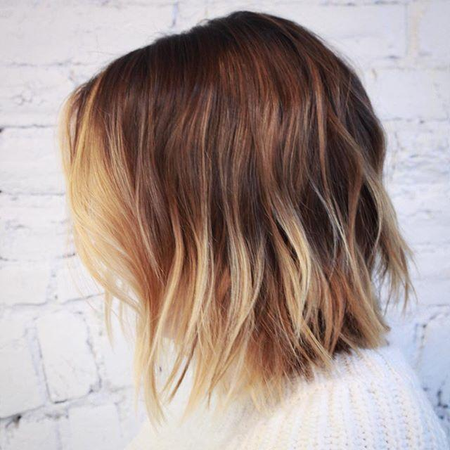 """<p>This hair cut is longer in the front, which creates a more textured, interesting look.</p><p><a href=""""https://www.instagram.com/p/Bbt2vzBDHv5/"""">See the original post on Instagram</a></p>"""