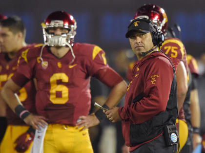 Expectations are high for QB Cody Kessler in Steve Sarkisian's second year as USC's head coach. (AP)